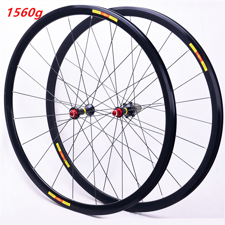 Bicycle road wheel set 700C front 20 rear <font><b>24</b></font> holes ultra light 8 9 10 11 speed wheels <font><b>rims</b></font> 1560g image