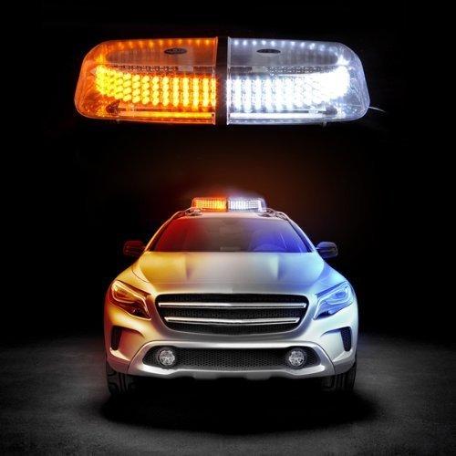 12V/24V Car LED Roof Warning Light 240 Amber/Red/Blue LED Magnetic Police Strobe Lamp Beacon Emergency Flashing Lights Yellow