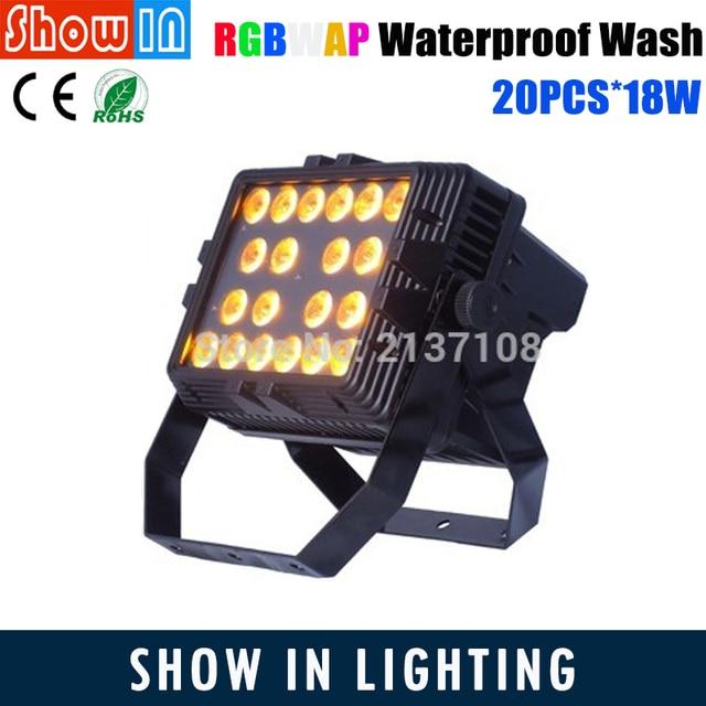 Lyre 20*18W RGBWAP Wash LED Wall Washer IP65 Luces Discoteca DMX 512 Dj Disco Party Stage Lights Projetor De Natal Luz Festa