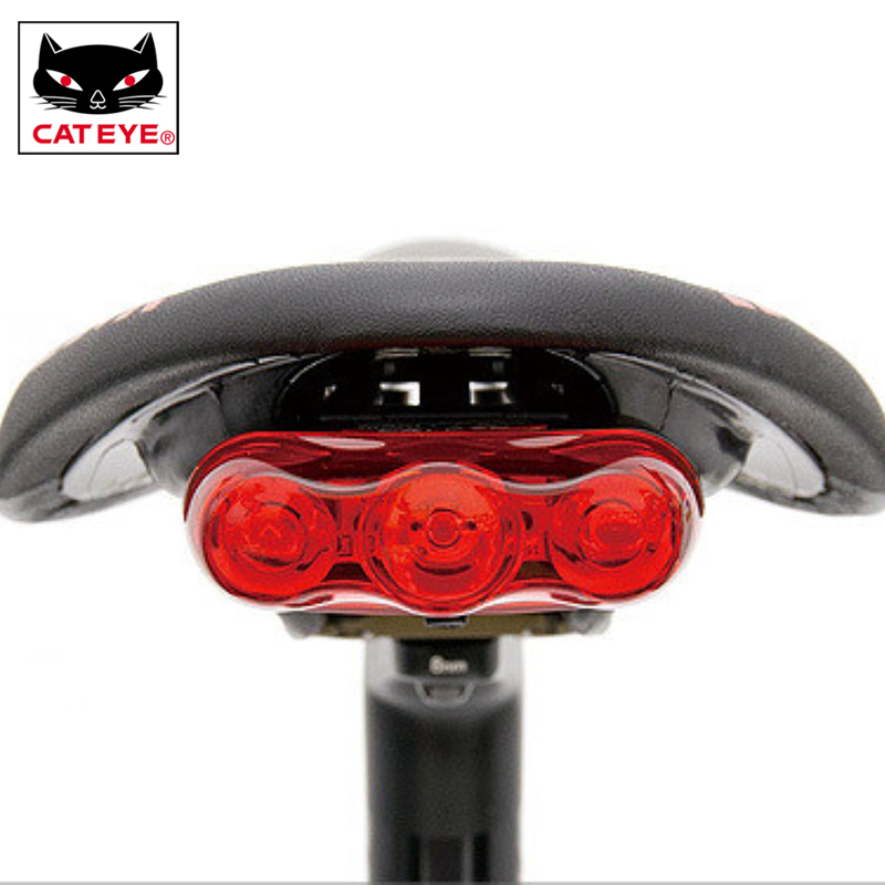 cateye hl el460rc rear volt50 bicycle rear tail light with flextight bracket new CATEYE TL-AU630 Bicycle Taillight Waterproof Bicycle Rear Intelligent Light Safe Warning Light Taillights Seatpost Lights Lamp