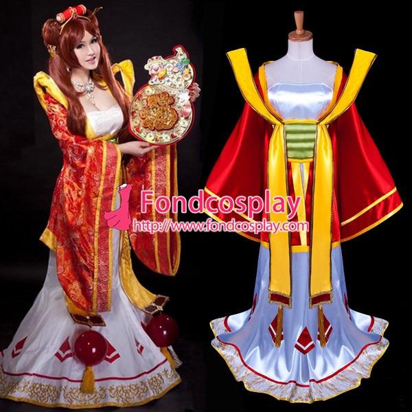Lol Sona Maven du jeu de cordes Costume Cosplay sur mesure [G941]