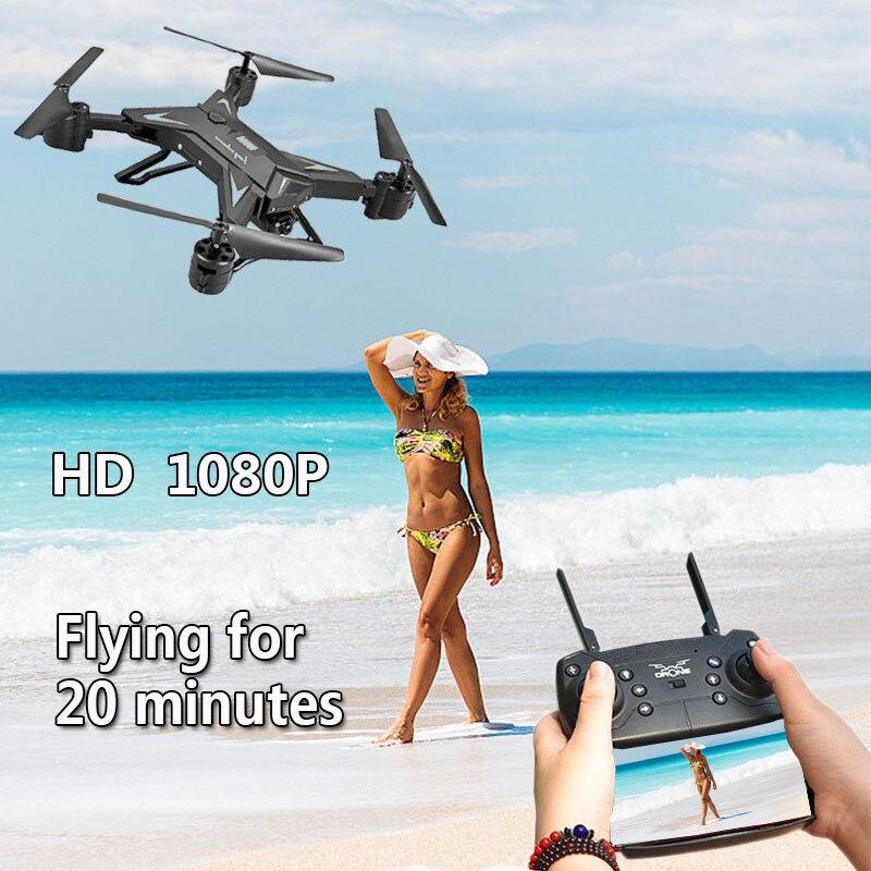 RC Hélicoptère Drone avec Caméra HD 1080 p WIFI FPV Selfie Drone Professionnel Pliable Quadcopter 20 Minutes Batterie Vie