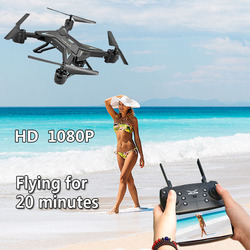 RC Helicopter Drone with Camera HD 1080P WIFI FPV Selfie Drone Professional Foldable Quadcopter 20 Minutes Battery Life