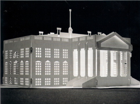 sgbz016 cool paper silhouette artwork handcraft diy the white house