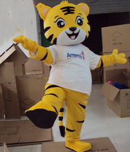 The Tiger Mascot Costume Yellow King many clothes Bear Animal Cartoon Fancy Dress Adult Size Free Shipping