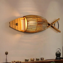 Creative Bamboo Lamp Cafe Bar Tea Room Living Room Restaurant light aisle corridor stair hotel bedside wall lamp bra wall sconce retro chinese wall lamp wall sconce antique wood parchme stair aisle corridor bedroom living room cafe lamp e27 wall light bra