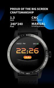 Image 4 - SmartWatch IP68 wodoodporny ciśnienie krwi pulsometr sportowy przypomnieć Bluetooth inteligentny zegarek sportowy dla android ios