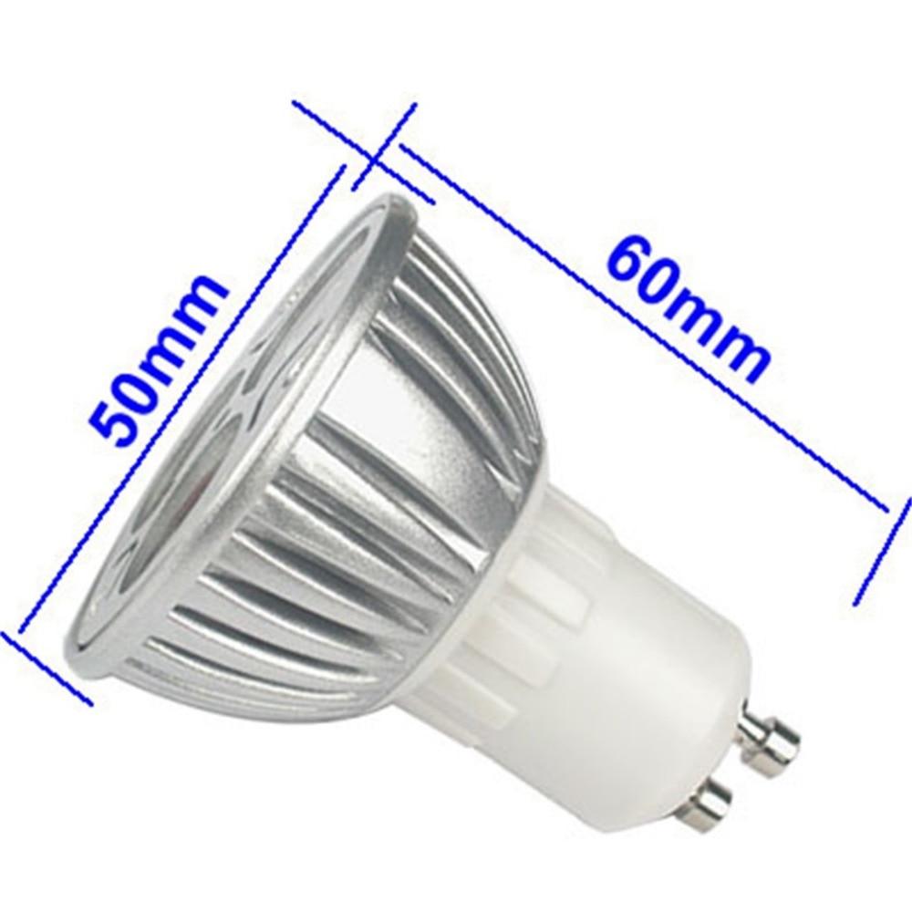 Купить с кэшбэком 50PCS High Power Lampada LED spotlight E27 GU10 E14 GU5.3 led bulbs Dimmable 3X3W Led Lamp light MR16DC 12V Dimmable AC110V 220V