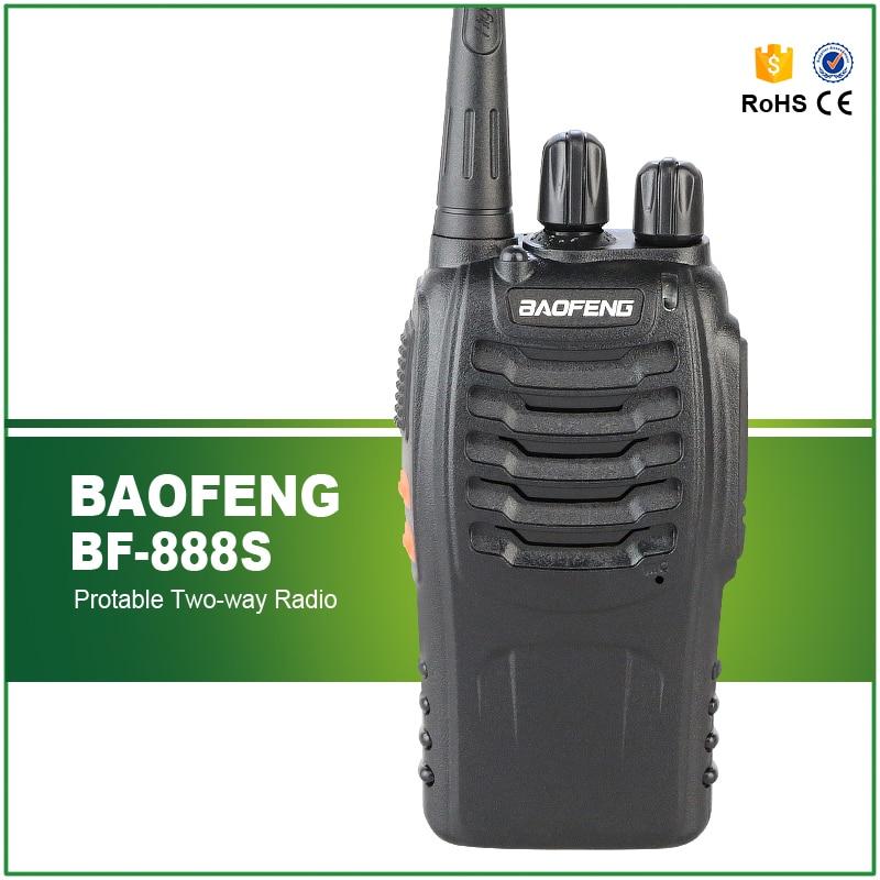 BaoFeng BF-888S Portable Radio Bao Feng 888S Walkie Talkie 5W Single Band UHF 400-470MHz Two Way Radio 16 Channels