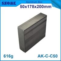 4pcs Lot 50 H X178 W X200 L Mm Aluminium Box Enclosure In Black Color Electrical