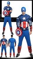 Top Grade Avenger League Costume Captain America The Hulk Iron Man Superhero Clothing Adult Men Halloween