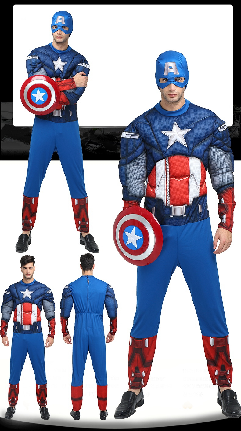 Top grade Avenger League Costume Captain America The Hulk Iron man Superhero clothing Adult Men Halloween Cosplay