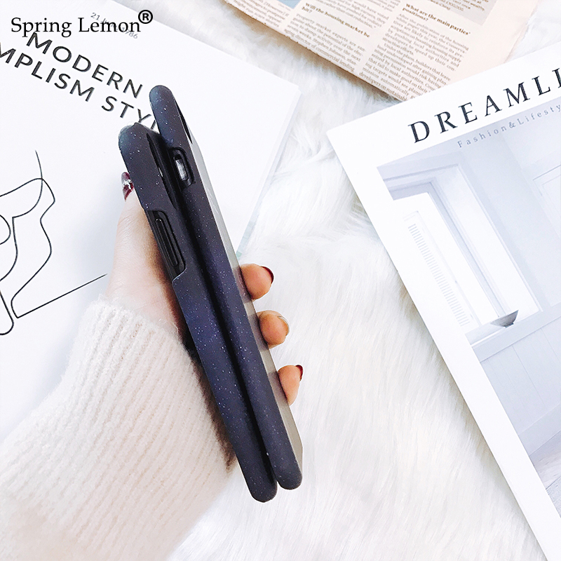 Spring Lemon Seize The Day Dancing Girl in The Snow Luminous Matte Hard Cover For iphone X/6/6s/6plus/6splus/7/7plus/8/8plus/10