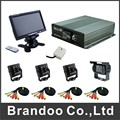4CH SD CAR DVR+7 inch LCD monitor+3pcs inside ir camera+1pcs outside IR camera+5 meters cables 4pcs