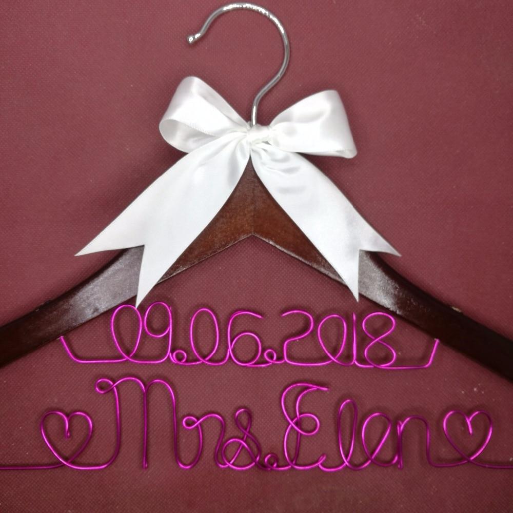 Přizpůsobené svatební závěs, dárky družičky, věšák na jméno, věšák na nevěsty