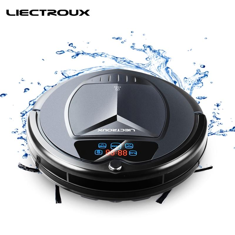 LIECTROUX B3000PLUS Robot Aspirapolvere, con Serbatoio di Acqua, Wet & Dry, withTone, Pianificazione, virtuale Bloccante, Self Carica, UV, Finitura Opaca