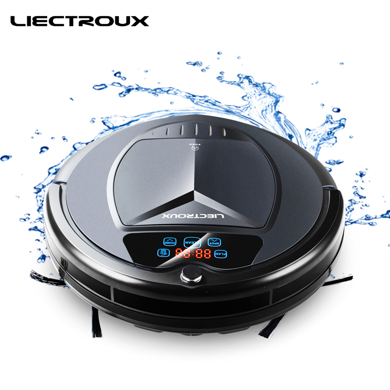 LIECTROUX B3000PLUS Robot Aspirateur avec Réservoir D'eau, Wet & Dry, withTone, Calendrier, bloqueur virtuel, Auto-Charge, UV, Finition Mate