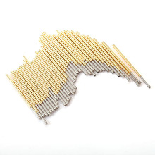 цена на P100-H2 Length 33.35mm Metal Spring Test Probe Sawtooth Tip Spring  Probe Tool For Test Voltage  Gold Thimble Home Tool