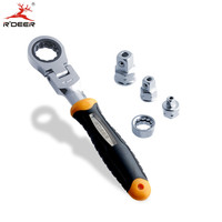 RDEER Ratchet Wrench Set Adjustable Wrench With 1 4 3 8 1 2 Socket Wrench Adapter