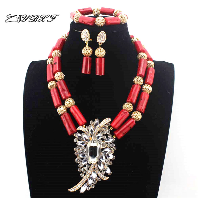 Fashion Red Coral Pendant Necklace women Wedding African beads Jewelry Set Bridesmaid Necklace Free Shipping L1133Fashion Red Coral Pendant Necklace women Wedding African beads Jewelry Set Bridesmaid Necklace Free Shipping L1133