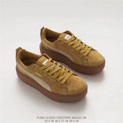 2018 New Arrival PUMA Fenty by Rihanna Cleated Creeper Suede Sneakers Women's Badminton shoes Size 35.5-39