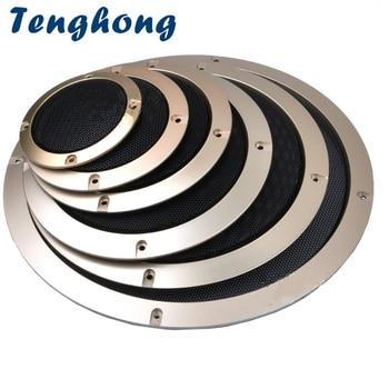 Tenghong 2pcs Audio Speaker Cover 23456.5 Inch Circle Decorative Mesh Grille Net Covers For Car Loudspeakers Protective DIY circle