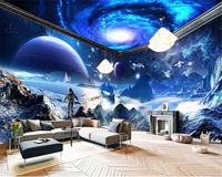 Beibehang 3d Wallpaper High Interior Decoration Dream Papel De Parede Wall Paper Personality Star Theme Space