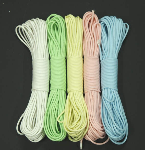 Paracord 550lb 9 Strand 5 colors Glow In Dark 31 Meter/100FT /Bundle Survival Paracord P ...