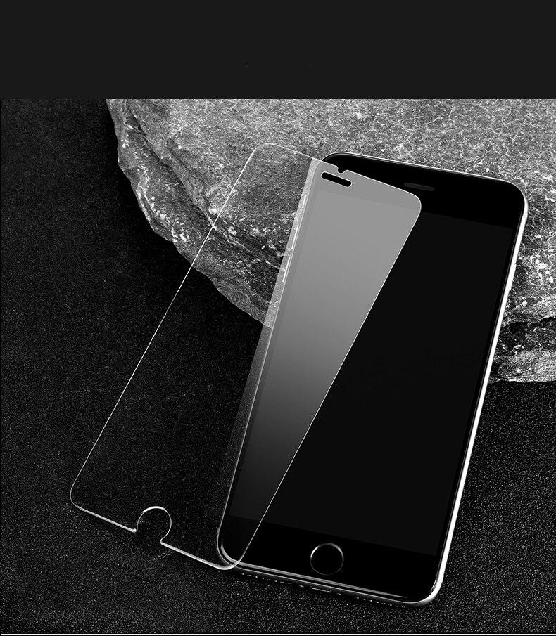 imágenes para 50 unids/lote HD Clear Film Protector de Pantalla de 0.26mm 2.5D Borde Curvo de Cristal Templado protector para iphone 7 6 6 s más 5 5S sí 4 4S