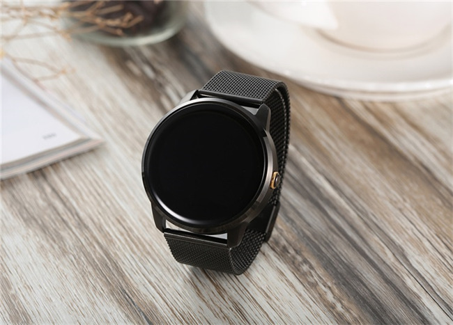 Bluetooth Montre Smart Watch 1.22 pouce IPS HD Support Daffichage Surveillance de la Fréquence Cardiaque Message Push pour IOS Android