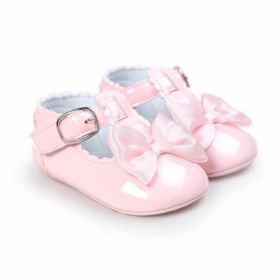 Newborn Baby Girls Shoes PU Leather Buckle First Walkers Big Bow Summer Princess Shoes Party Wedding Baby Girl Shoes