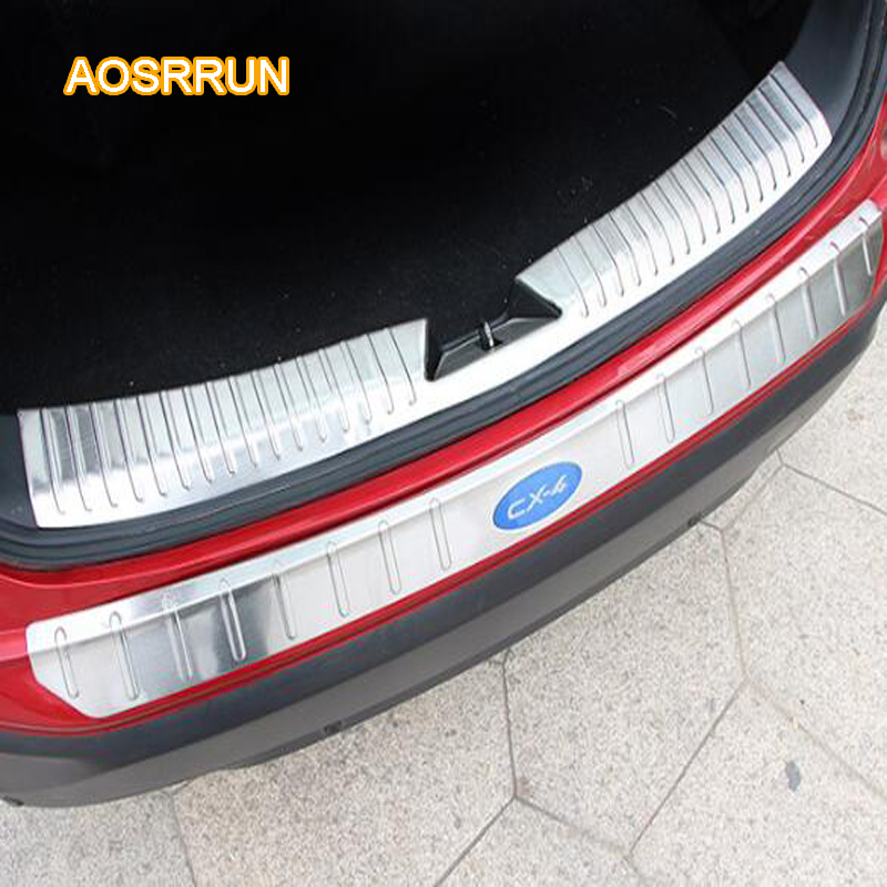 AOSRRUN After stainless steel the backboard of the guard plate is placed inside and outside cover Car accessories FOR Mazda cx-4 aosrrun after the stainless steel backboard of the guard board the rear guard plate car accessories for acura cdx 2016 2017