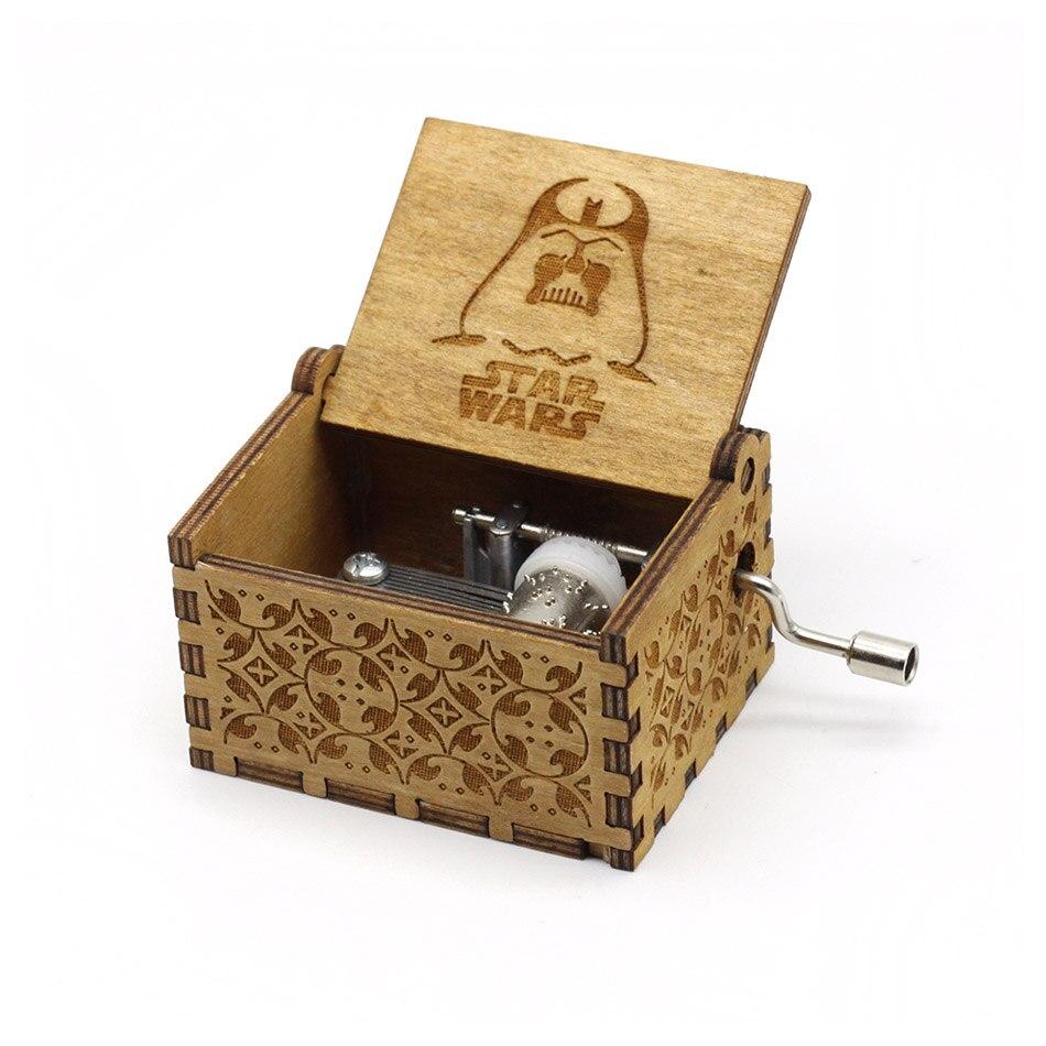 Деревянная музыкальная шкатулка для игры в трон, подарок на Рождество, день рождения, год, подарок для детей - Цвет: Star Wars