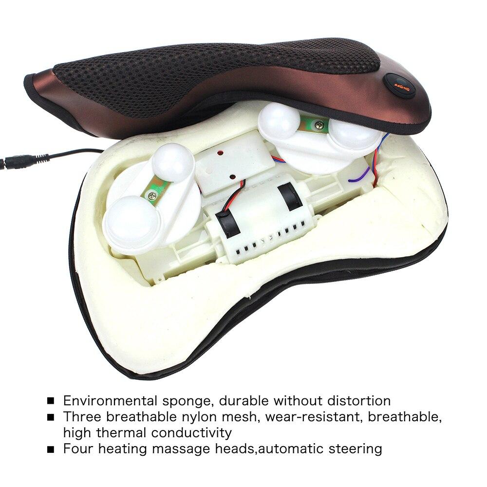Multifunktions kann gebrauch auto hause schönheit pflege Elektrische massage kissen Infrarot Heizung körper massagegerät für nacken zurück körper ect...