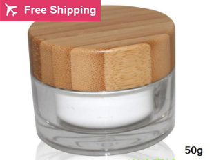 ФОТО free shipping 50g 5/10pcs / lot empty Acrylic cream Jar container , Cosmetic Cream Jar bottles with lids,Cosmetics Packaging