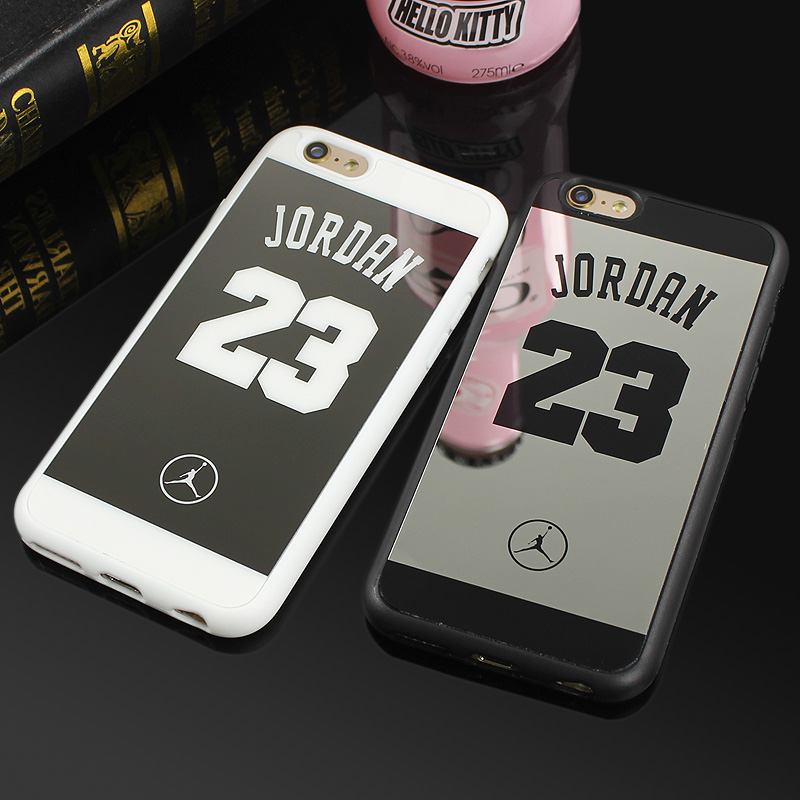 mirror iphone 7 plus case. aliexpress.com : buy jordan 23 lovers couple soft silicone chrome mirror case for iphone 5 5s se 6 6s 7 8 plus phone cases cover coque fundas capa from