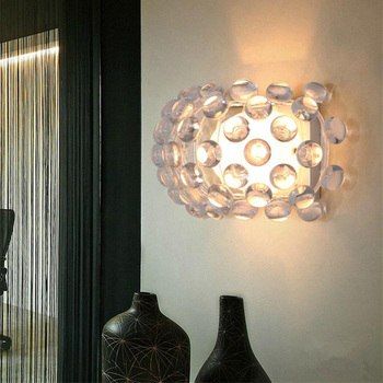 الحديثة وجيزة الأمريكية الفاخرة زيوس جدار الضوء ، حبات العرق أيون الإبداعية الجدار مصباح غرفة المعيشة غرفة الطعام مصباح ل المنزل الإضاءة