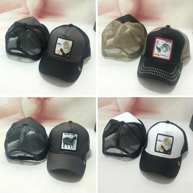 3a8b142022213 ... Cock Animal Embroidery Baseball Cap Men Women Snapback Caps Breathable  Mesh Hip Hop Hats Unisex Eat ...
