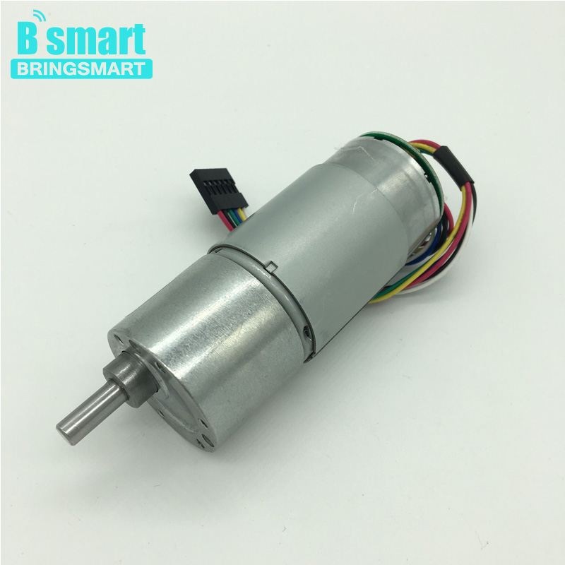 Bringsmart 37gb 545 12v dc gear motor encoder motor hall for Dc gear motor with encoder