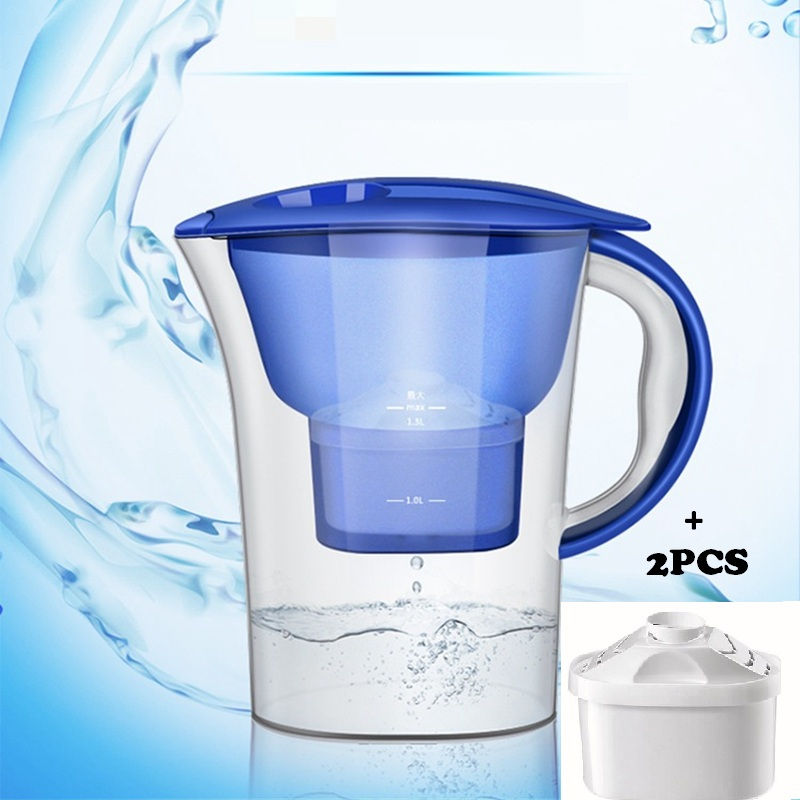 DMWD 4 Layers Water Purifier Water Pitcher Water Filter Kettle For Home And Office With 2pcs Core 2.5L