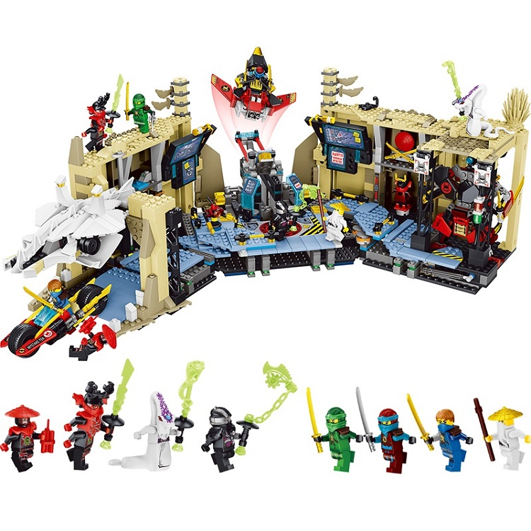 LEPIN Ninjagoed Chaos Warrior Caves Building Blocks Sets Bricks Ninja Movie Classic Model Kids Toys Marvel Compatible Legoings lepin city jungle cargo helicopter building blocks sets bricks classic model kids toys marvel compatible legoe