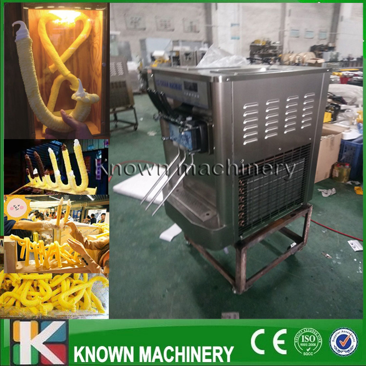 The hot sale 220/110V KN 128 Sticks shapes soft ice cream machine with CE certification with free shipping by sea