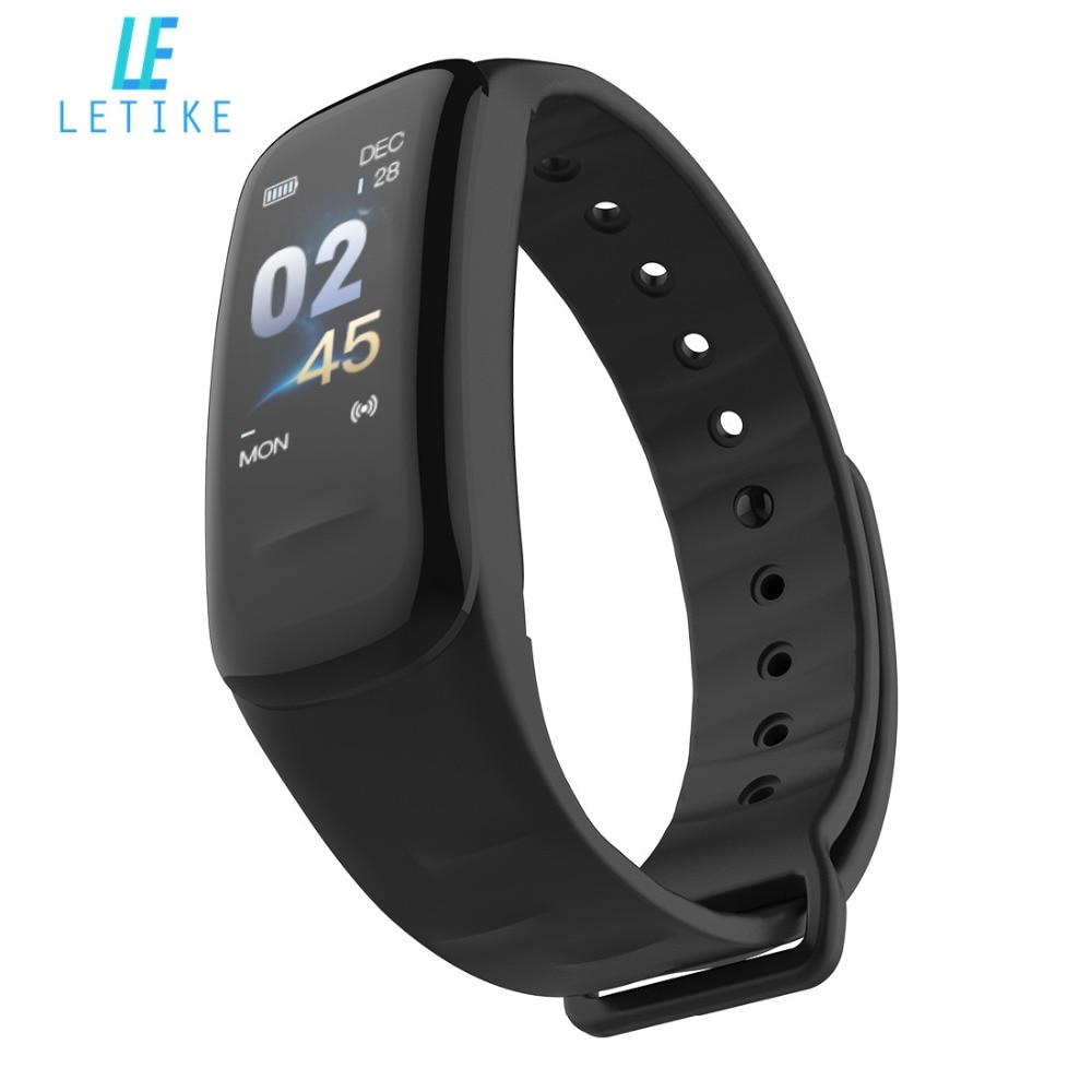 Letike C1s Inteligente Pulseira Cor-screen Rastreador De Fitness Heart Rate Monitor de pressão arterial sono rastreador Pulseira Para Android IOS