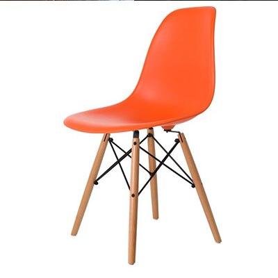 Полипропилен Дерево DIY обеденный стул современный дешевый обеденный бар встречи гостиная Кофейня бук деревянный стул Лофт стулья мебель для дома - Цвет: HH381300OR