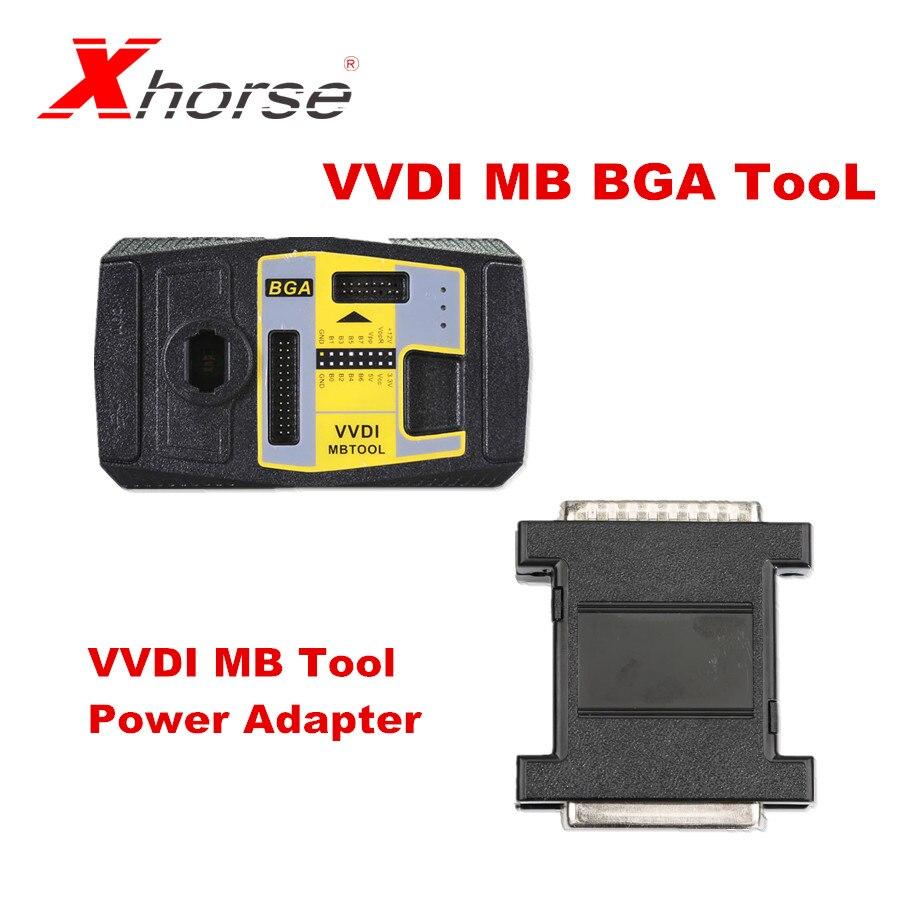 Xhorse V5.0.2 VVDI MB BGA TooL Key Programmer Plus VVDI MB Tool Power Adapter For Data Acquisition