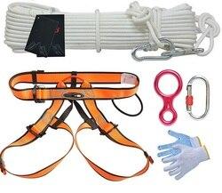 10 m 11.66kn 1100 kg seguro de trabalho aéreo anti-fogo ao ar livre cinto de segurança montanhismo escalada cabo chicote de fios corda de fio