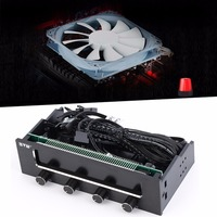 Newest 5 25 LCD Panel Fan Speed Temperature Controller Governor PC Hardware Protector Promotion