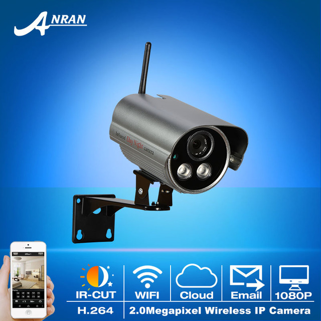 Onvif 1080P HD Wireless CCTV Camera H.264 Video 30IR Outdoor Waterproof Network WIFI Bullet Camera Security Surveillance Device