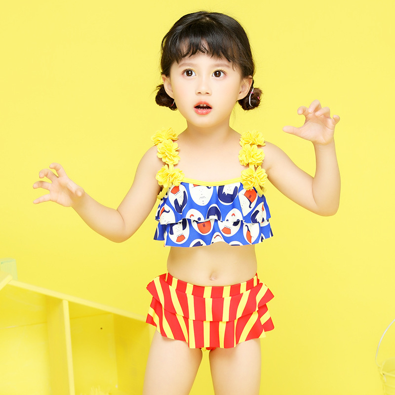 Child Swimwear Girl Childrens Junior Girls Swimsuit Kids Summer 2018 Children Baby Flowers Floral Polyester Sierra Surfer