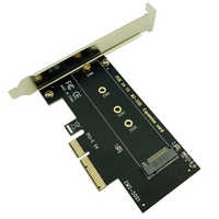 BTBcoin NVME SSD M2 PCIE adaptateur PCIE à M2 adaptateur M.2 NVME SSD à PCI Express X4 carte Riser adaptateur M clé pour 2230-2280 M2 SSD